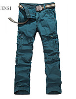 2015 new men's outdoor wear overalls pocket multi functional trousers cotton straight pants