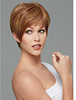 Europe and the United States Short Brown Straight Synthetic Wig Side Bang