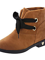 Women's Shoes Wedge Heel Round Toe Boots Casual Black / Yellow / Red