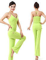 Ioga Conjuntos de Roupas/Ternos Calças + Tops wicking / Materiais Leves / Macio Stretchy Wear Sports Mulheres - OutrosIoga / Pilates /