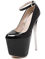 Women's Shoes Patent Leather Stiletto Heel  Round Toe Heels Dress Black