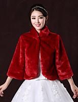 Wedding / Party/Evening Faux Fur Boleros 3/4-Length Sleeve Fur Coats