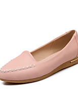 Women's Shoes Leatherette Flat Heel Pointed Toe Flats / Loafers Outdoor / Casual Blue / Pink / Red / Beige