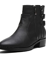Women's Shoes  Chunky Heel Fashion Boots / Round Toe Boots Outdoor / Casual Black / Gray