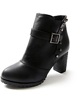 Women's Shoes Chunky Heel Fashion Boots / Comfort Boots Outdoor / Office & Career / Dress / Casual Black