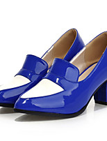 Women's Shoes Leatherette Chunky Heel Heels Heels Outdoor / Casual Black / Blue / Yellow