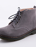 Women's Casual Shoes Suede Flat Heel Combat Boots / Round Toe / Closed Toe Boots Outdoor, More Colors Available