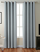 TWOPAGES Zac Collection Classic Diamond Soft Handfeel Panel CurtaIn Drapes (One Panel)