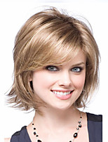 Women Blonde and Brown lady Curly Short Synthetic Hair Wigs