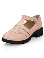 Women's Shoes Chunky Heel Comfort / Round Toe Heels Outdoor / Office & Career / Dress / Casual Black / Pink / White