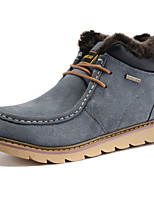 Women's Shoes Suede Flat Heel Snow Boots / Combat Boots Boots Outdoor / Casual Blue / Yellow