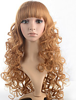 2015 Women Ombre Fashion Natural Wavy Janpanese Heat Resistant Synthetic Hair Wig M16094-#26 24