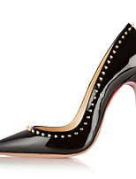 Women's Shoes Patent Leather Stiletto Heel Heels / Pointed Toe Heels Wedding / Party & Evening / Dress Black