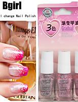 Gradient Effect 3 Bottles of Nail Polish 6ml*3 Bottle 9 Color