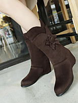 Women's Shoes Leatherette Wedge Heel Snow Boots /  Office & Career / Casual Black / Blue / Brown / Green / Red