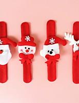 4pcs decorazioni di Natale carino schiaffo bracciale