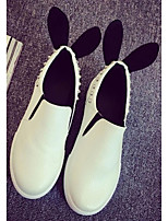 Women's Shoes Flat Heel Creepers Loafers Outdoor / Casual Black / White