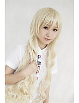cos Lanting Kagerou projeto mari Kozakura louro longo cosplay peruca partido anime cabelo