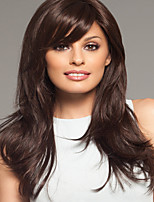 Woman Lady  Daily  Long Side Bang Extra High Quality Synthetic Straight Wigs