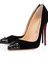 Women's Shoes Fleece Stiletto Heel Heels / Pointed Toe Heels Wedding / Party & Evening / Casual Black