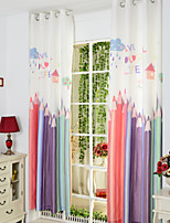 Two Panels As Per Picture Novelty Poly / Cotton Blend Panel