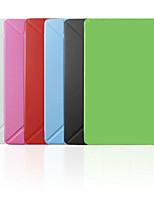 Capinha Smart de Origami (Pele PU , Vermelho/Preto/Branco/Verde/Azul/Rosa) - Cor Única -Para Apple iPad mini/mini-iPad 2/mini-iPad 3