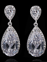 Gorgeous Alloy With Czech Rhinestones Teardrop Wedding Earrings Bridal Earrings (with Gift Box)