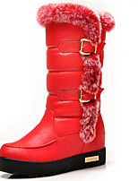 Women's Shoes Synthetic Flat Heel Snow Boots / Fashion Boots Boots Party & Evening / Dress / Casual Black / Yellow / Red