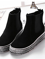 Women's Shoes  Platform Round Toe Boots Casual Black / Gray