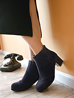 Women's Shoes Leatherette Chunky Heel Combat Boots / Office & Career / Casual Black / Blue / Green / Red