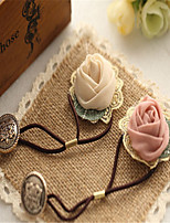 Handiwork bud silk yarn leaves rose headdress flower hair bands