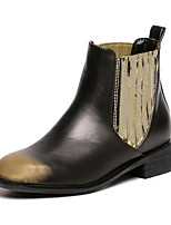 Women's Shoes Low Heel  Round Toe Boots Dress / Casual Silver / Gold