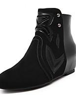 Damesschoenen - Casual - Zwart - Lage hak - Modieuze laarzen - Laarzen - Kunstleer