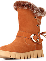 Women's Shoes Suede Flat Heel Snow Boots / Fashion Boots Boots Office & Career / Dress / Casual Brown / Red