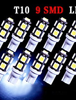 10 X Super White T10 9-SMD Wedge 5050 LED Light bulbs 192 168 194 W5W 2825 158