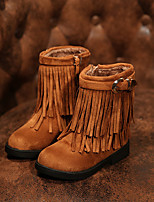 Girls' Shoes Dress / Casual Fashion Boots / Comfort Faux Suede Boots Black / Brown / Red