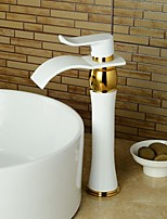 Contemporary Style ORB & Gold Plating & Chrome Plating  Single Handle One Hole Hot and Cold Water Bathroom Sink Faucet