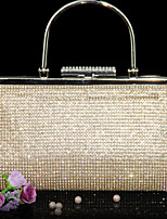 Women PU Minaudiere Clutch / Evening Bag - Gold / Black