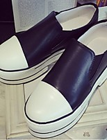 Women's Shoes Platform Creepers Loafers Outdoor / Casual Black / White