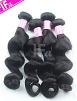 pelo brasileño lía 4pcs / lot onda floja pelo humano que teje la extensión del pelo del color 1b