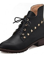 Women's Shoes Leatherette Low Heel Fashion Boots Boots Office & Career / Dress / Casual Black / Brown
