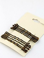 5pcs/lot 5cm Brown Plated Thin U Shape Hair Bobby Pin Brown Metal Clips Barrette 2015 New arrival