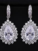 Gorgeous Alloy With Czech Rhinestones Teardrop Wedding Earrings Bridal Earrings (with Gift Box)