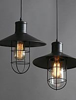 E27 27*25CM American Country Industrial Wind Restoring Ancient Ways Single-Head Birdcage Chandelier LED Lamp