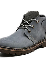Women's Shoes Suede Flat Heel Motorcycle Boots / Combat Boots Boots Outdoor / Athletic / Casual Gray