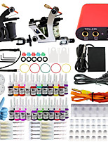 ITATOO® Complete Beginner Tattoo Guns Kit Set with Tattoo Guns Power Unit Ink Foot Pedal and Clip Cord