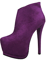 Women's Shoes Velvet Stiletto Heel Fashion Boots Boots Outdoor / Casual Black / Purple / Gray / Burgundy / Khaki
