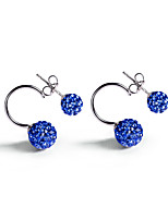 925 Sterling Silver CZ Stone Earring Sweet Korean Style