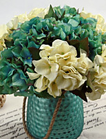 Silk / Plastic Hydrangeas Artificial Flowers 2pcs/set