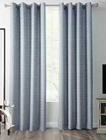TWOPAGES Zac Collection Woodgrain Classic Diamond Soft Handfeel Panel CurtaIn Drapes (One Panel) Grey